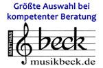 Musik Beck ist Sponsor des Blasmusikverbandes Neckar-Alb